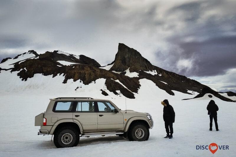 4x4 truck super jeep Iceland Glacier Langjökull Jarlhettur