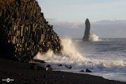 Basalt rocks sea stacks Beach Reynisfjara