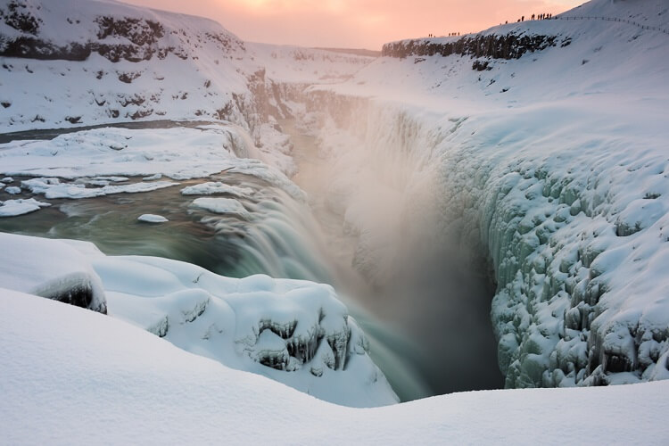 Gullfoss Falls Golden Circle Winter