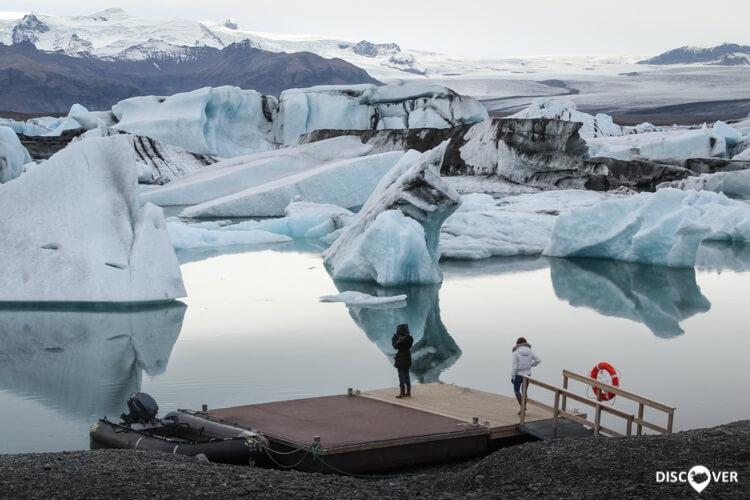 Icebergs Iceland Ice Blocks Jökulsárlón Glacier Lagoon
