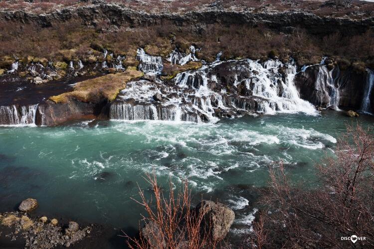 Hraunfossar Falls Borgarfjörður Super Jeep Tour