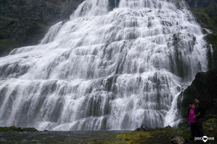 Waterfall Dynjandi in Westfjords of Iceland