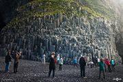Black-sand Beach Reynisfjara Rocks Columnar Basalt