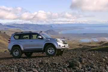 Toyota Land Cruiser at Snaefellsnes Peninsula Iceland