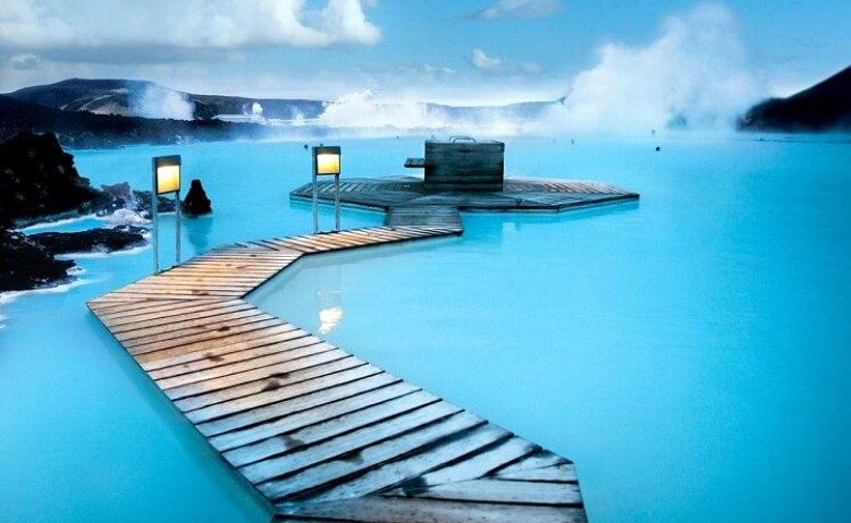 Refreshing yourself at Blue Lagoon