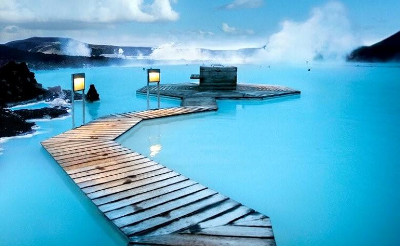 Bathing in Blue Lagoon