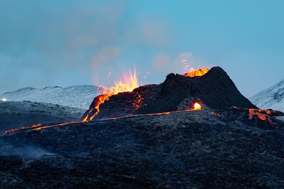 Explore the volcanic site