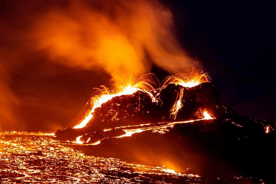 Witness an event to see the volcano