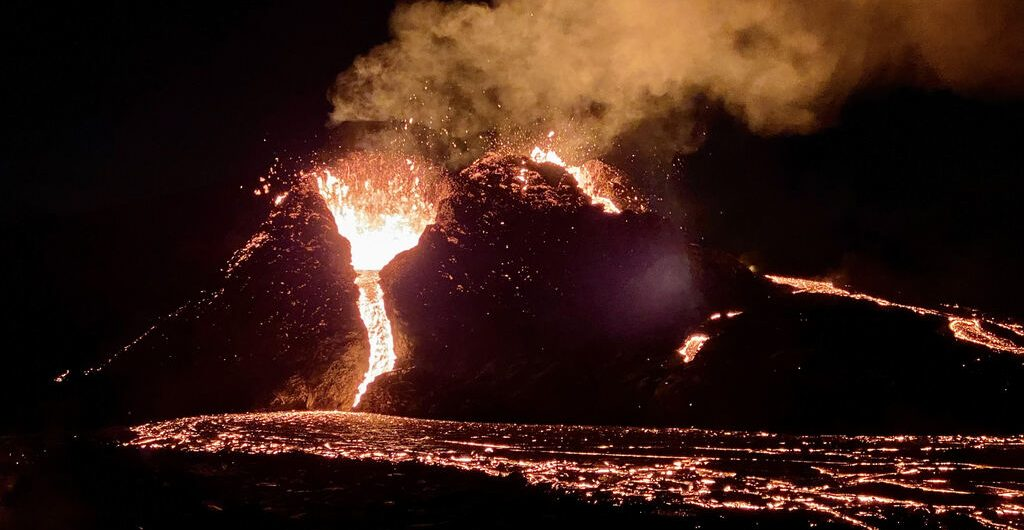 Geldingadalur Valley recently witnessed a volcanic eruption
